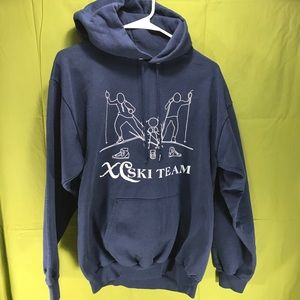 Vintage Cross Country Ski Team Hoodie Men's Med